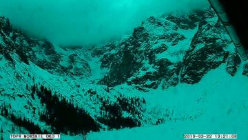 Zsuw śnieżny na szlaku w rejonie Rysów. W śniegu znaleziono narty, ale turyści nie ucierpieli