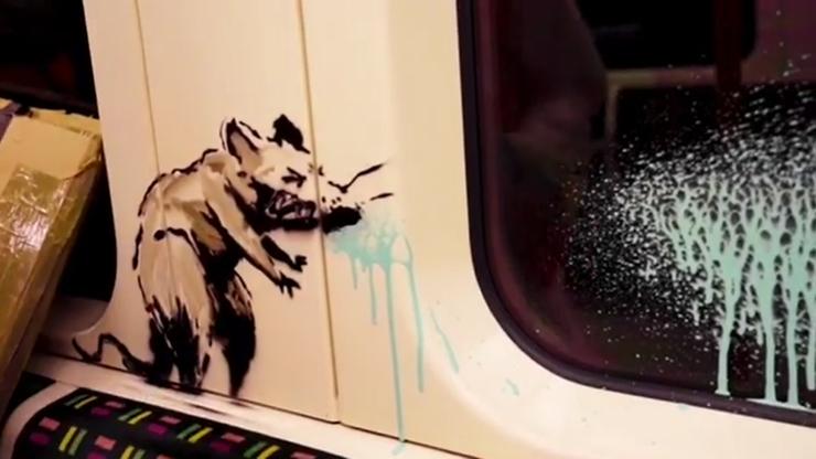 Najnowsze dzieło Banksy'ego zniknęło, zanim pojawiło się w internecie